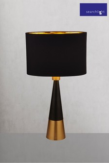 Searchlight Metal Reesa Pyramid Table Lamp