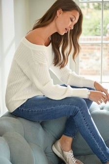 Sequin Off Shoulder Jumper
