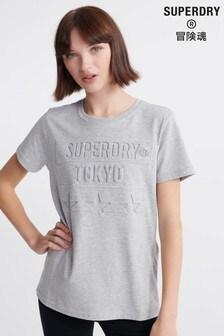 Superdry Tokyo Stars Embossed T-Shirt