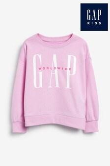 Gap Pink Logo Crew Sweater