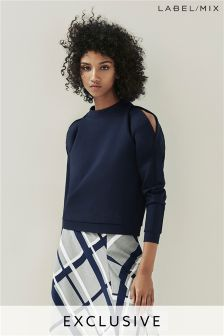 Mix/Caitlin Price Cutout Shoulder Sweatshirt