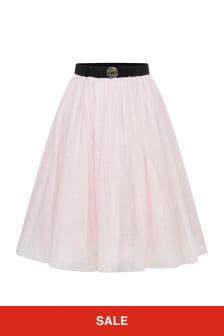 ELIE SAAB Girls Pink Shimmer Tulle Skirt