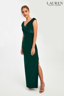 Lauren Ralph Lauren® Fern Leonetta Wrap Evening Dress