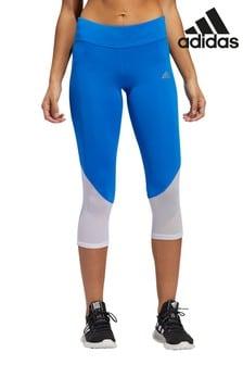 adidas Blue Own The Run 3/4 Leggings
