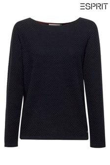 Esprit Blue Sweater In Organic Cotton