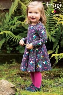 Frugi Purple GOTS Organic Full Skirt Skater Dress