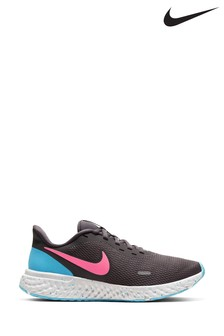 Nike Run Grey/Blue/Pink Revolution 5 Trainers
