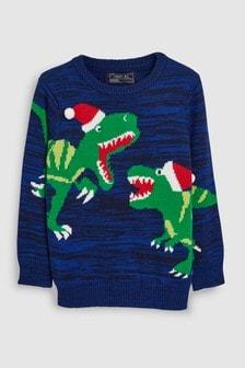Christmas Dinosaur Jumper (3-16yrs)