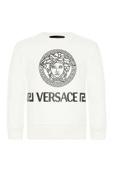 Versace Baby Boys Yellow Cotton Sweatshirt