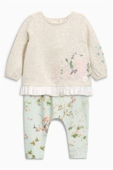 Embroidered Sweat And Leggings Set (0mths-2yrs)
