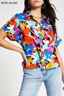قميص زهور 80s Carrie من River Island