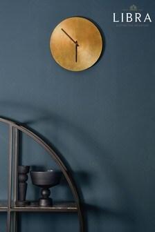 Libra Antique Gold Starburst Aluminium Wall Clock