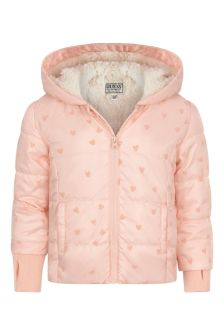 Baby Girls Pink Padded Jacket With Hood