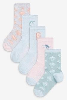 5 Pack Sea Life Socks