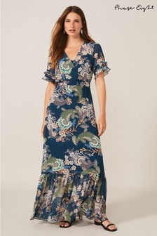 Phase Eight Blue Blaire Paisley Maxi Dress