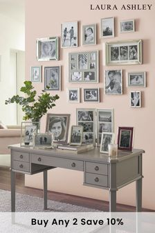Henshaw Pale Charcoal 5 Drawer Desk by Laura Ashley