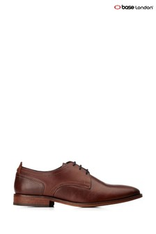 Base London® Brown Hammond Burnished Lace-Up Shoes