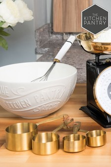 Kitchen Pantry Brass Measuring Cups