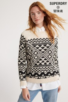 Superdry Rodeo West Textured Intarsia Knit Jumper