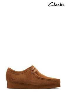 Clarks Cognac Suede Wallabee 2 Shoes
