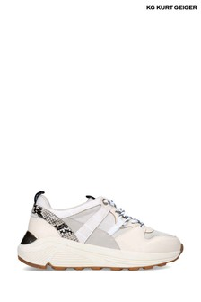 Kurt Geiger London Cream Loaded Trainers