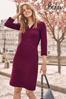 Boden Purple Bronte Jersey Dress