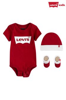 Levis Red 3 Piece Baby Gift Set