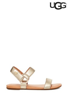 UGG® Gold Rynell Leather Sandals