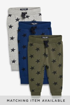 Stars Joggers Three Pack (3mths-7yrs)