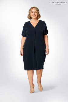 Live Unlimited Blue Amara Cocoon Dress