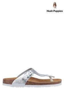 Hush Puppies Silver Kayla Slip-On Sandals