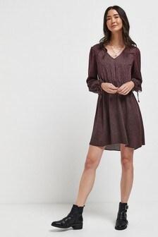 Mini V-Neck Swing Dress