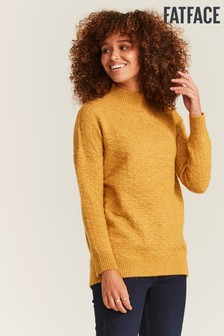 FatFace Yellow Rebekah Longline Jumper