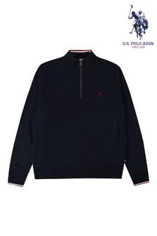 U.S. Polo Assn. Signature 1/4 Zip Funnel Neck Jumper
