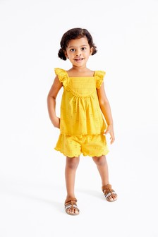 Jersey Broderie Lace Short Set (3mths-7yrs)