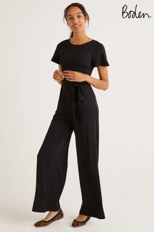 Boden Black Camille Ponte Jumpsuit