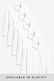 5 Pack Long Sleeve Formal Shirts (3-16yrs)