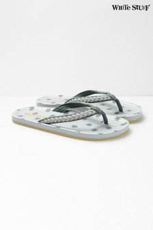 White Stuff Grey Star EVA Flip Flops