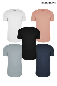 River Island Pink T-Shirts 5 Pack