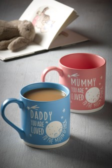 Mummy & Daddy Stacking Mugs