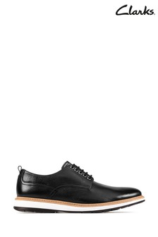Clarks Black Leather Chantry Walk Shoes