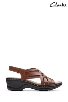 Clarks Tan Leather Lexi Carmen Sandals
