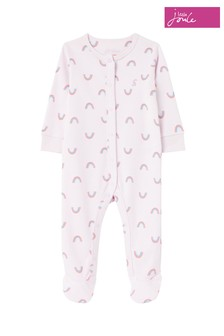 Joules Purple Razamataz Organically Grown Cotton Jersey Printed Sleepsuit