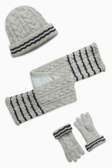 Hat, Gloves And Scarf Set (Older)
