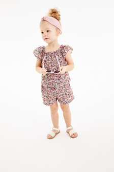 Floral Blouse And Shorts Set (3mths-7yrs)