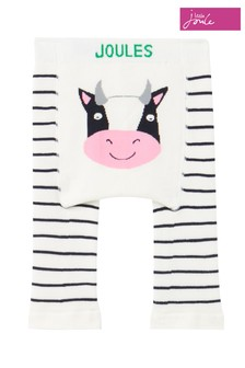 Joules White Winter Lively Single Pack Character Leggings