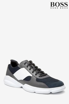 BOSS Grey Rapid Trainers