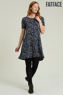 FatFace Blue Simone Ink Floral Dress