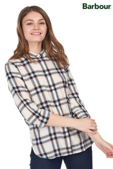 Barbour® Coastal Cream Check Shoreline Relaxed Fit Shirt