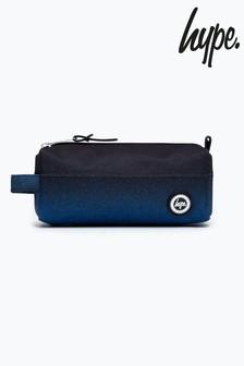 Hype. Black Blue Speckle Pencil Case